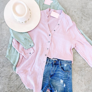 Breezy Button Down