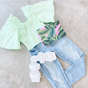 Green With Envy Crop