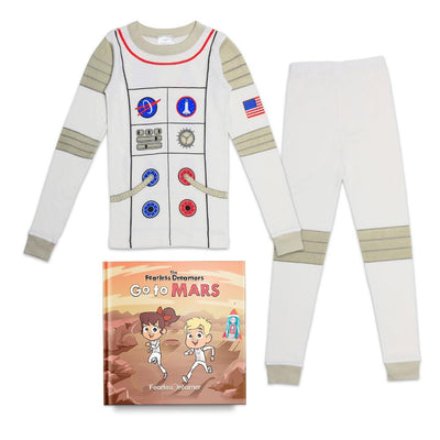 Organic Cotton Astronaut Pajamas with FREE Children's Book