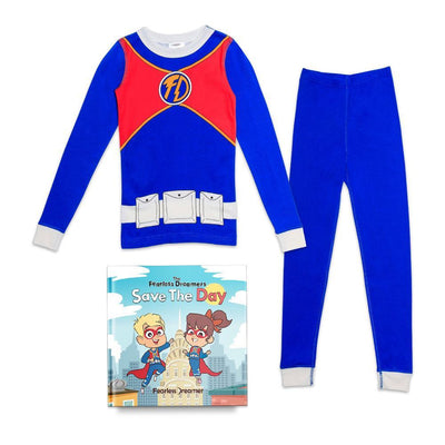 Organic Cotton Super Hero Pajamas with FREE Children's Book