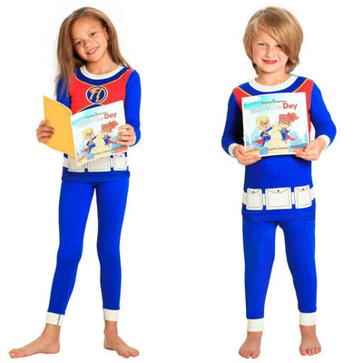 Superhero Pajamas and Book for Children