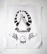 Satanic House Crystal Ball Fortune Teller Screen Print Patch