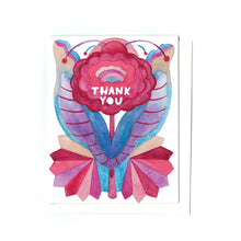 Zinnia Thank You folk card