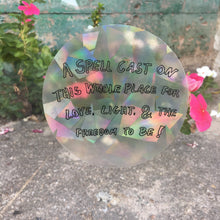 A Spell Cast On This Whole Place Sun Catcher Rainbow Maker Sticker