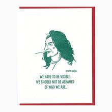 Sylvia Rivera letterpress card