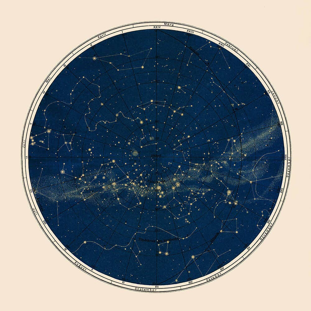 Blue Constellation Chart