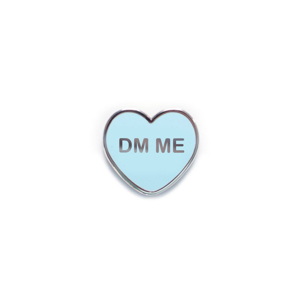 DM Me Candy Heart Enamel Pin