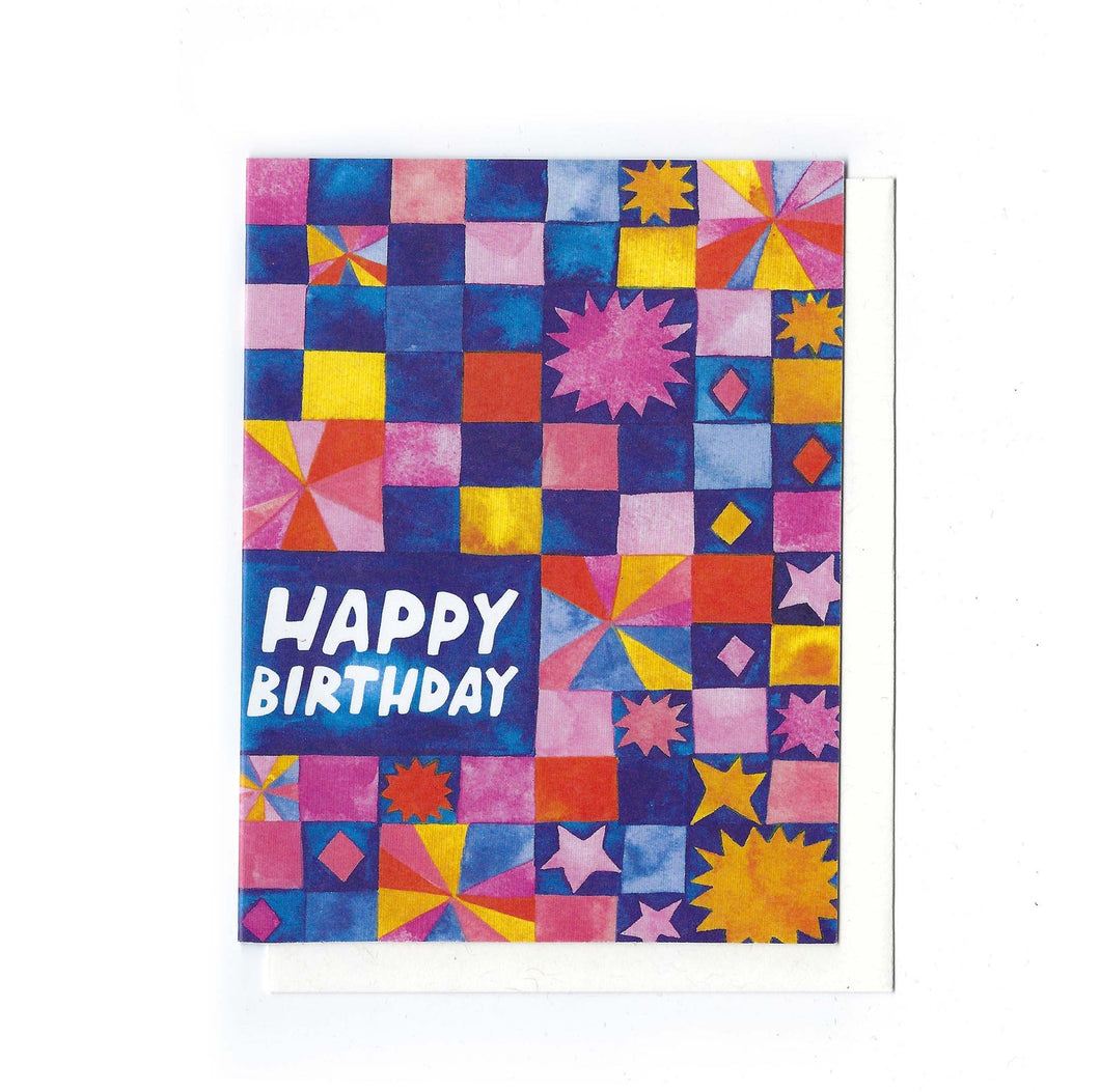 Happy Birthday Quilt Card