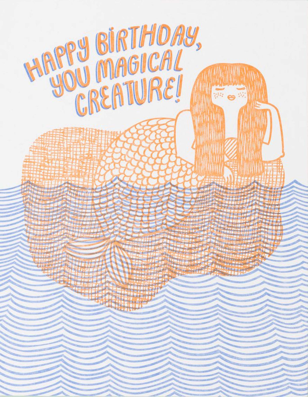 Happy Birthday, You Magical Creature! card