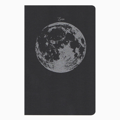 Moon recycled letterpress notebook