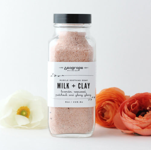 Milk and Clay Bath Soak