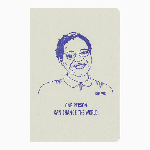 Rosa Parks letterpress journal