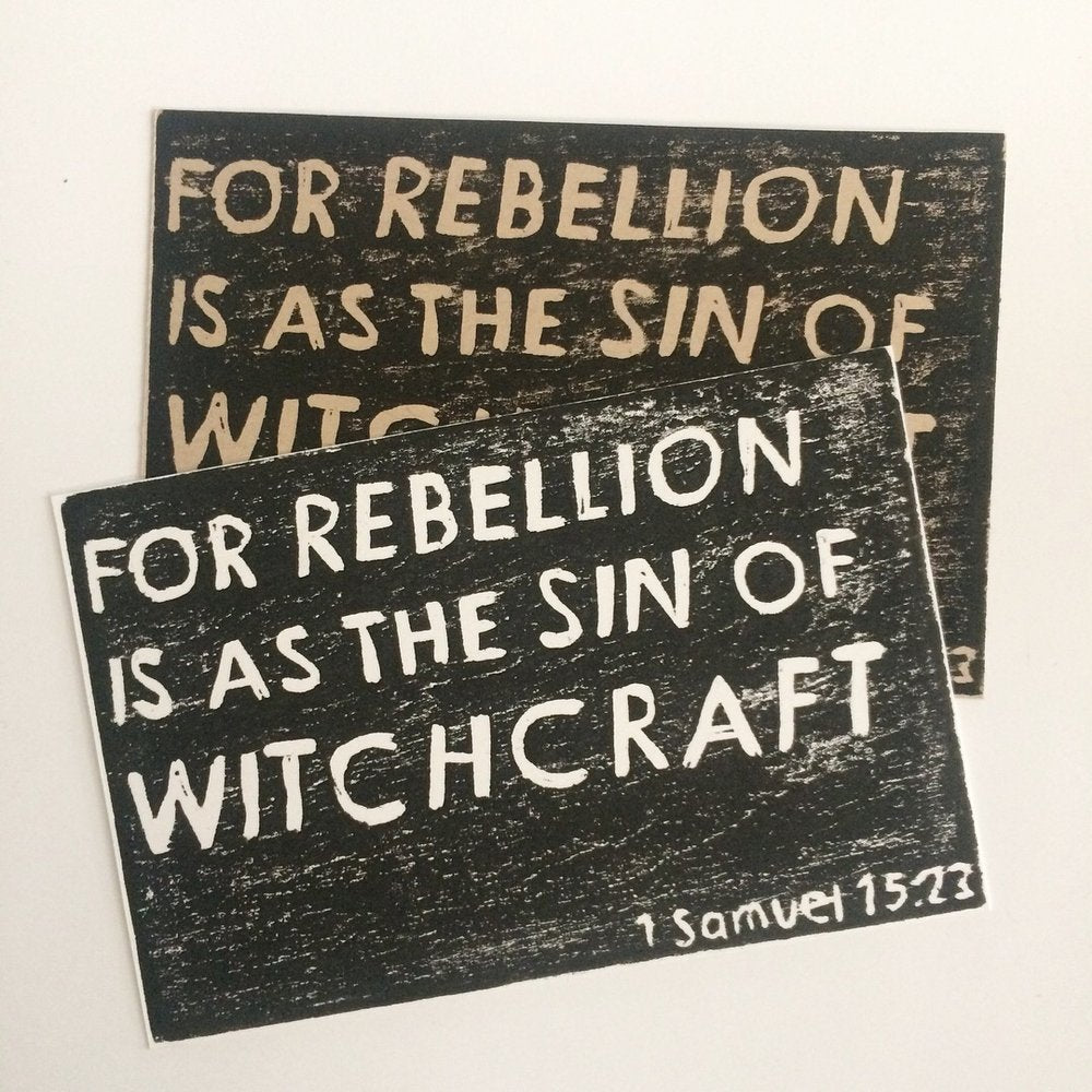 Rebellion and Witchcraft Postcards