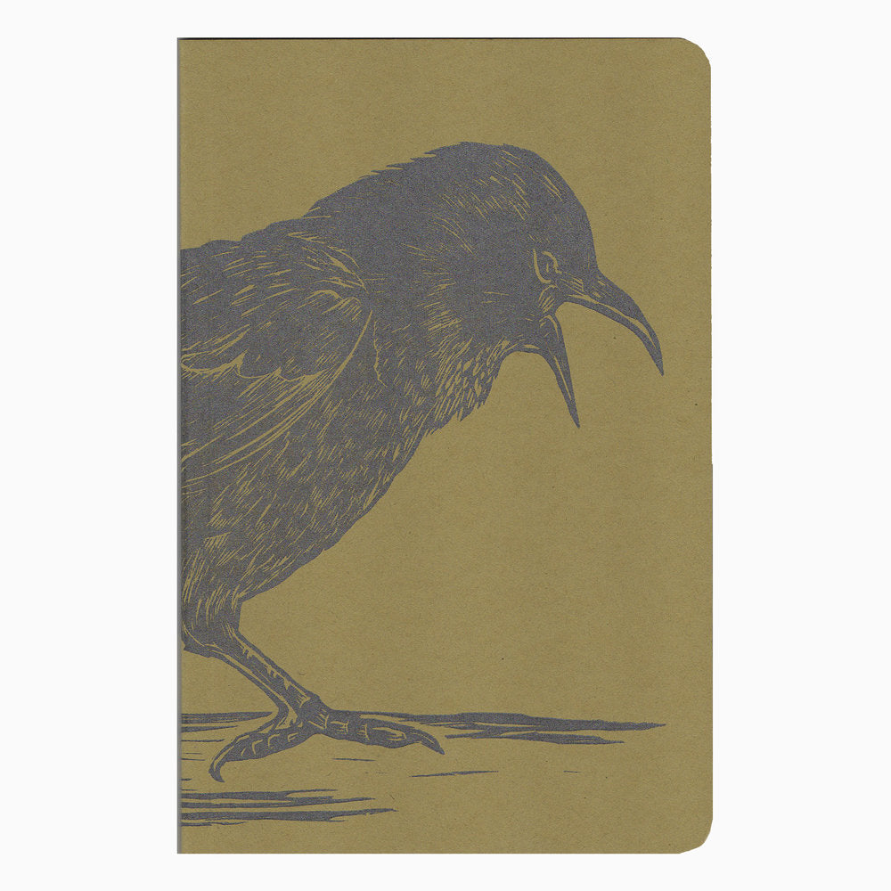 Crow Linocut Notebook