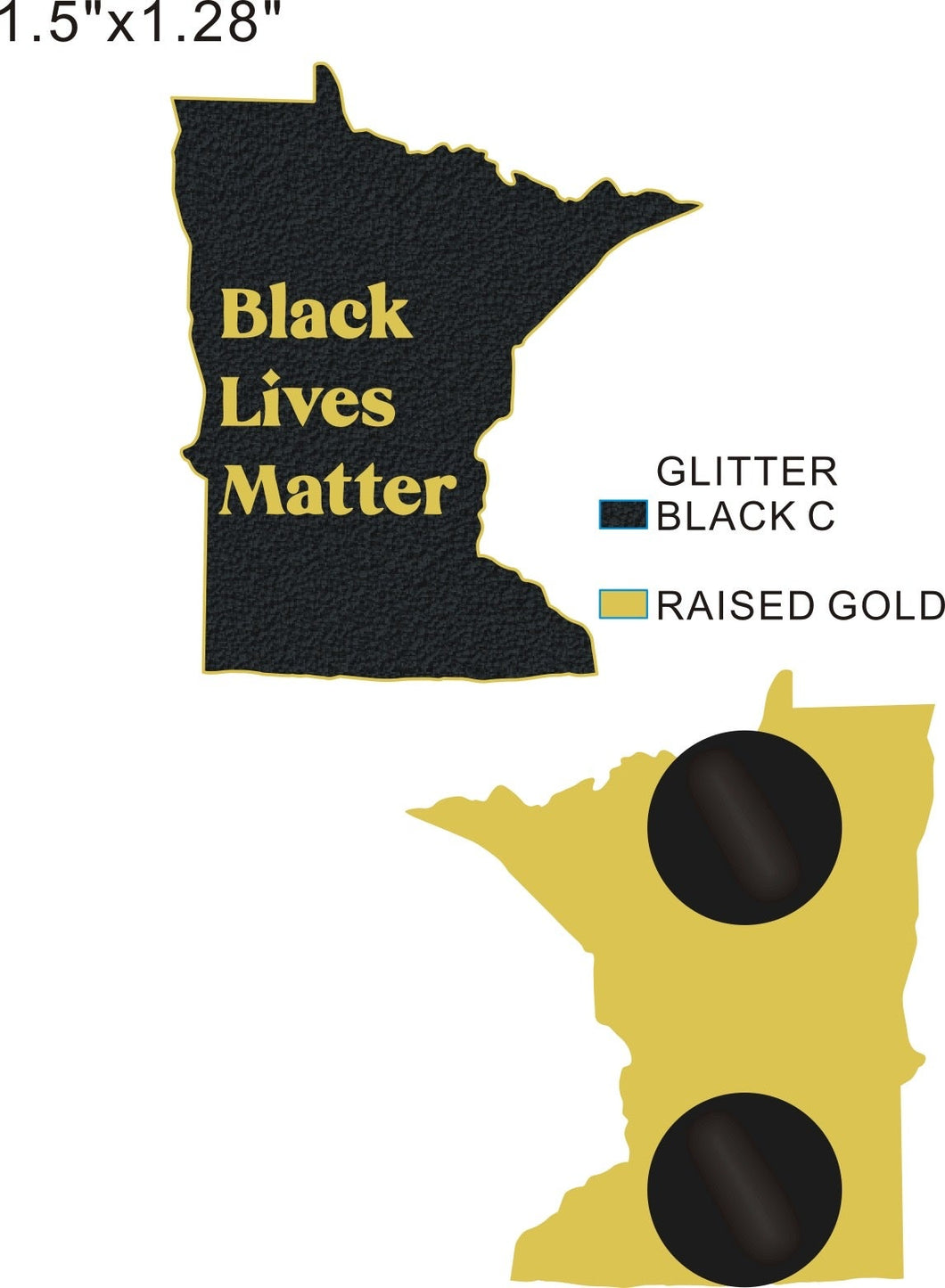 Black Lives Matter MN pin