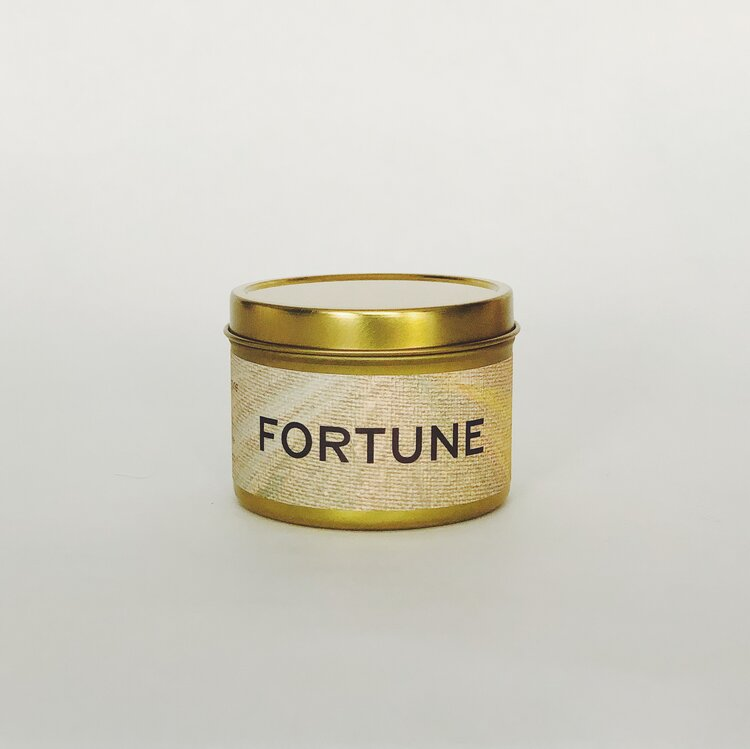 Fortune candle tin