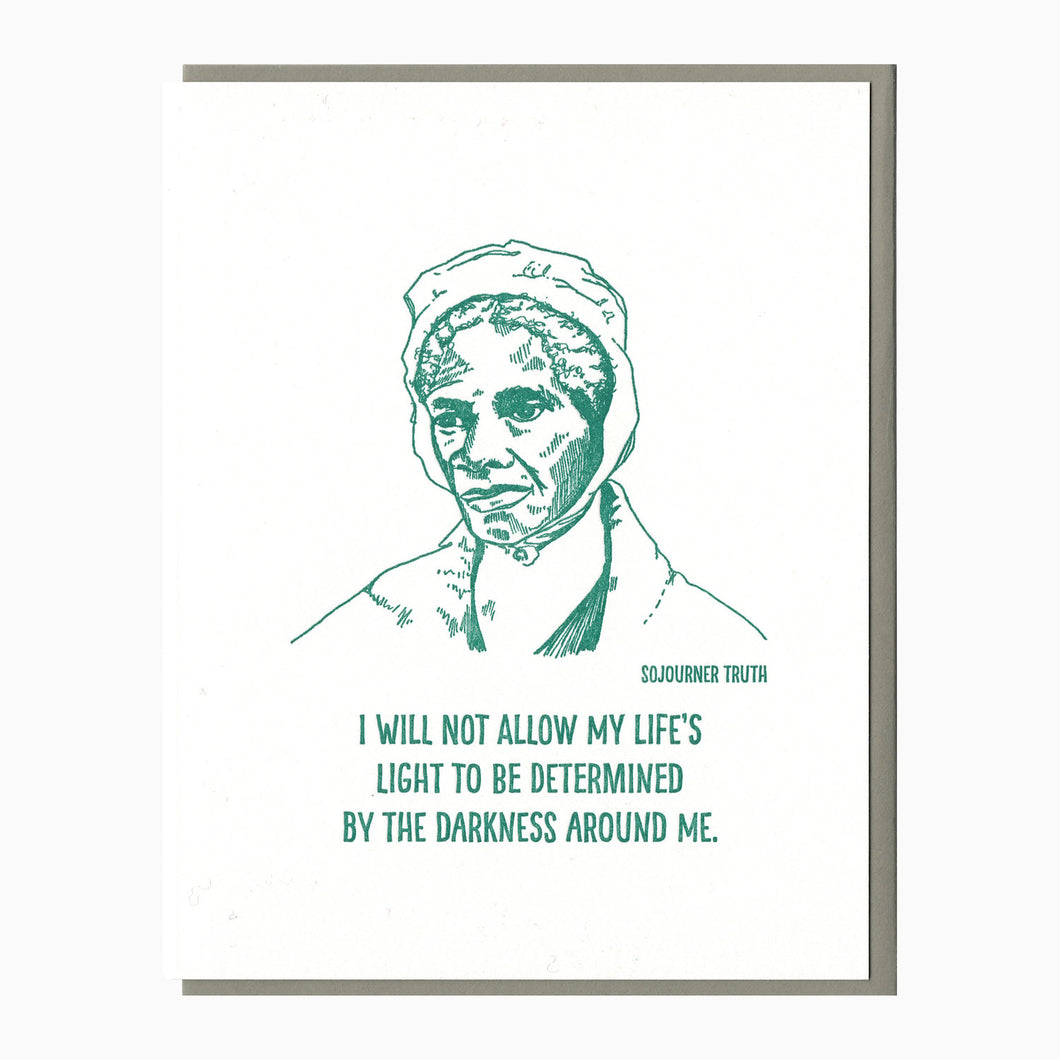 Sojourner Truth letterpress card