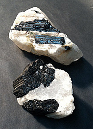 Black Tourmaline in Matrix