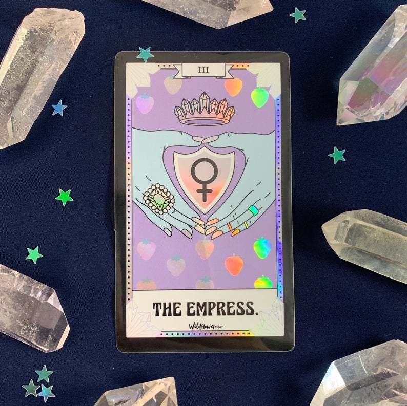 Tarot Holographic Sticker - The Empress
