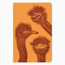 Ostriches letterpress notebook
