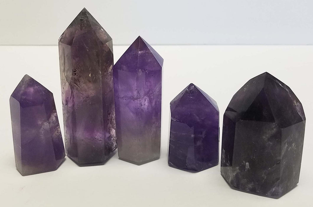 Polished Amethyst Crystal Points