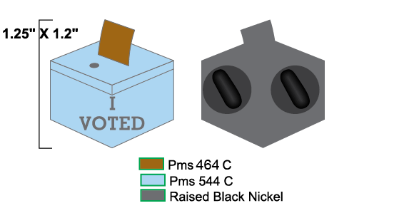 Pandemic Voting 2020 pins