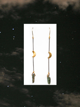 Kyanite Moon Earrings