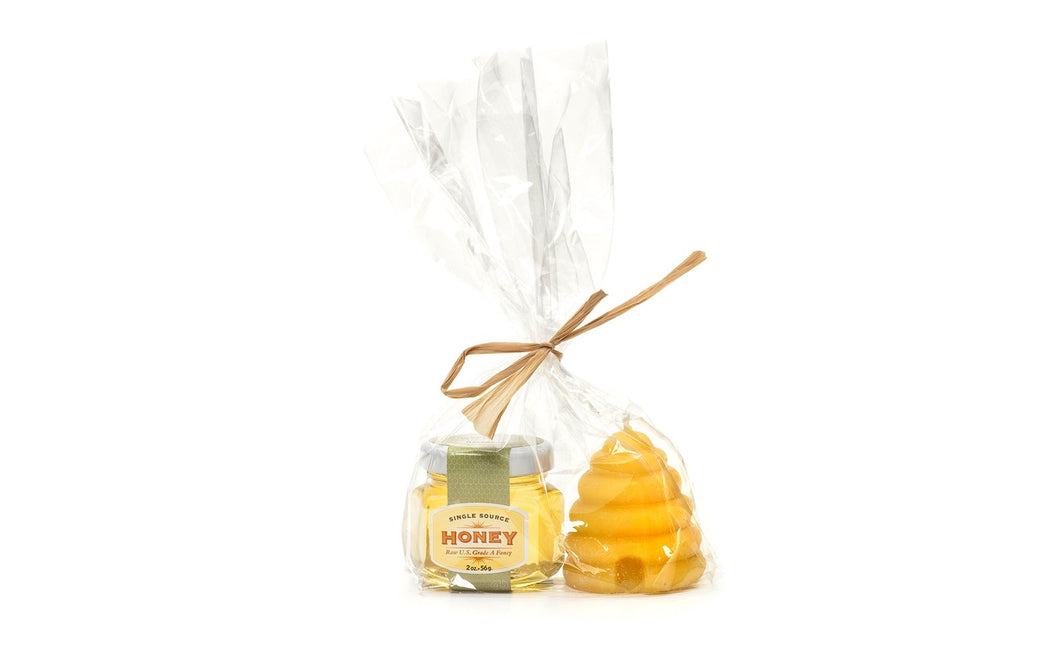 Beeswax Votive Candle + Honey Sampler