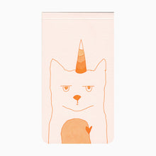 Caticorn letterpress jotter