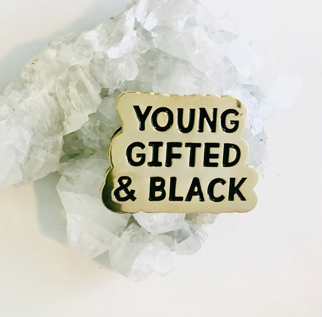 Young, Gifted and Black pin