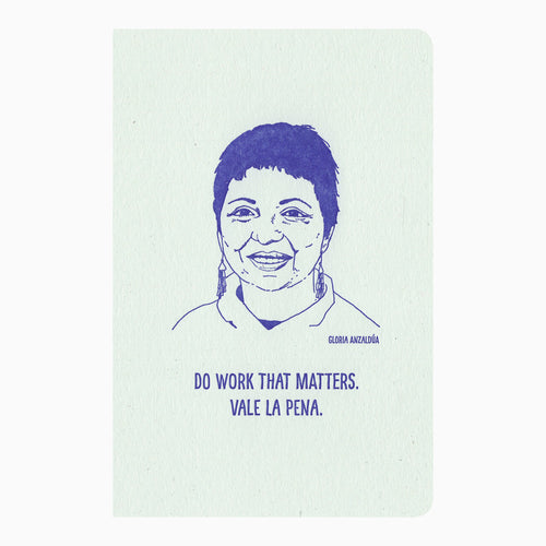 Gloria Anzaldúa letterpress journal