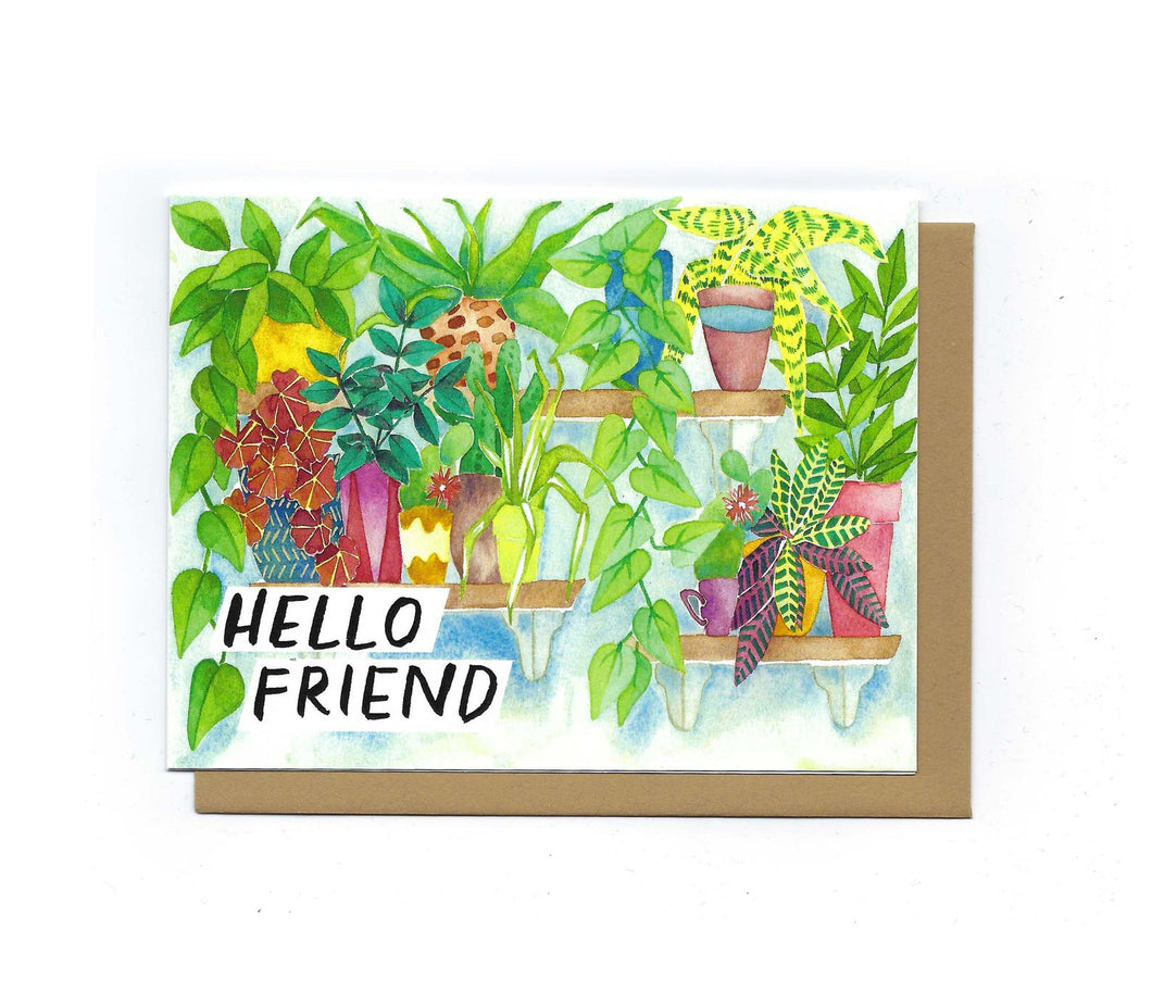Hello Friend Plant Shelf card