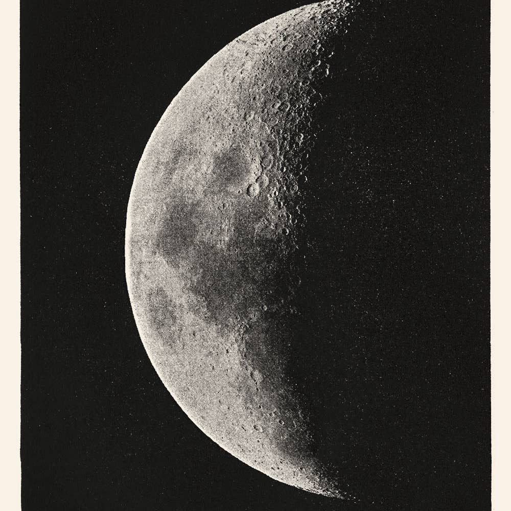 19th C. Black Moon (Left) Print