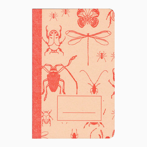 Insects letterpress notebook