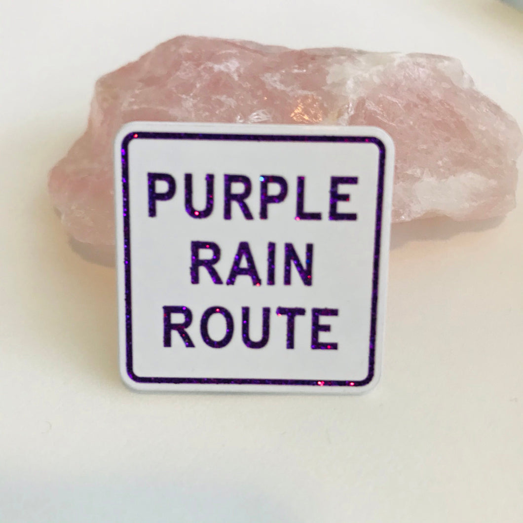 Purple Rain Route pin