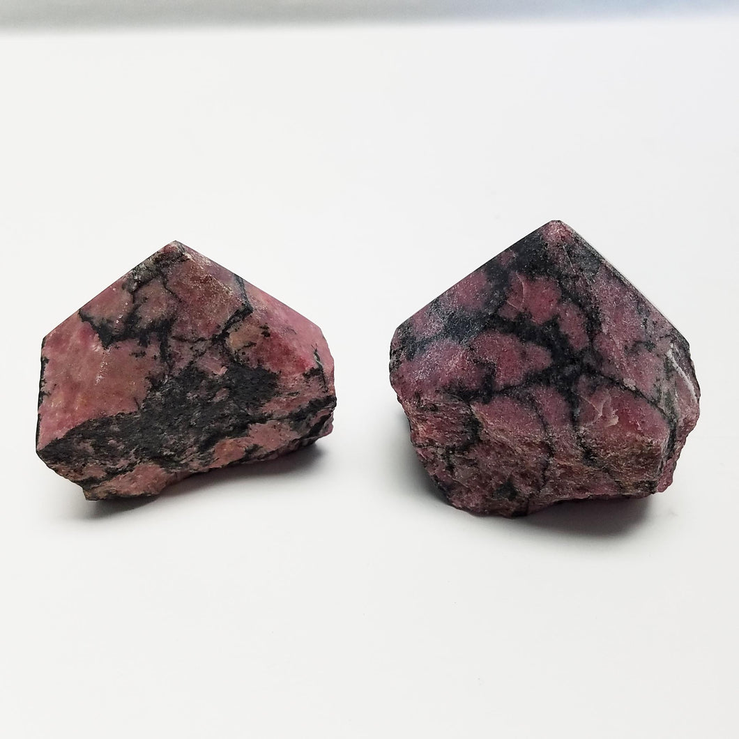Rhodonite Point w/ Natural Sides