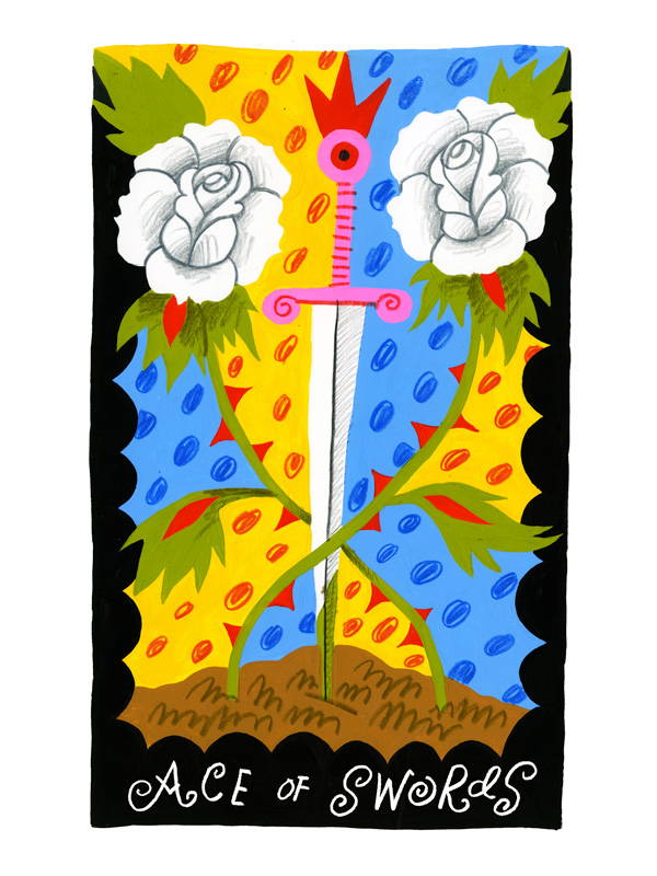 Ace of Swords Tarot Print