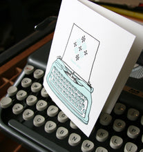 Thank You vintage letterpress card