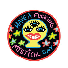 Mystical Day round weatherproof sticker