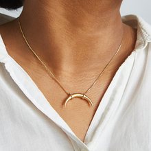 Gold Double Horn Necklace