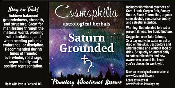 Saturn Grounded Planetary Vibrational Essence