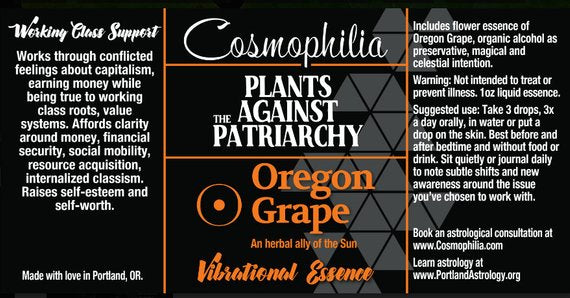 Plants Against the Patriarchy Vibrational Essence--Oregon Grape