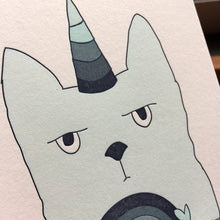 Caticorn Thanks card