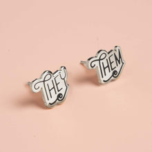 Pronoun Earrings