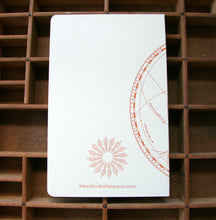 Solar System letterpress notebook