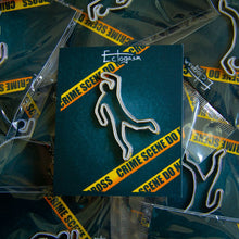Crime Scene Chalk Outline Enamel Pin