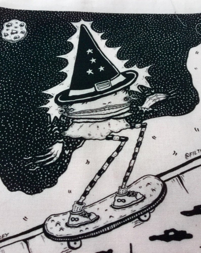 Skate witches back patch