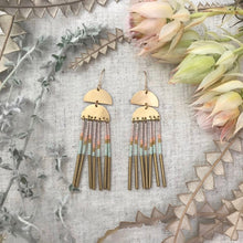 Solar Fringe Earrings--Pastel