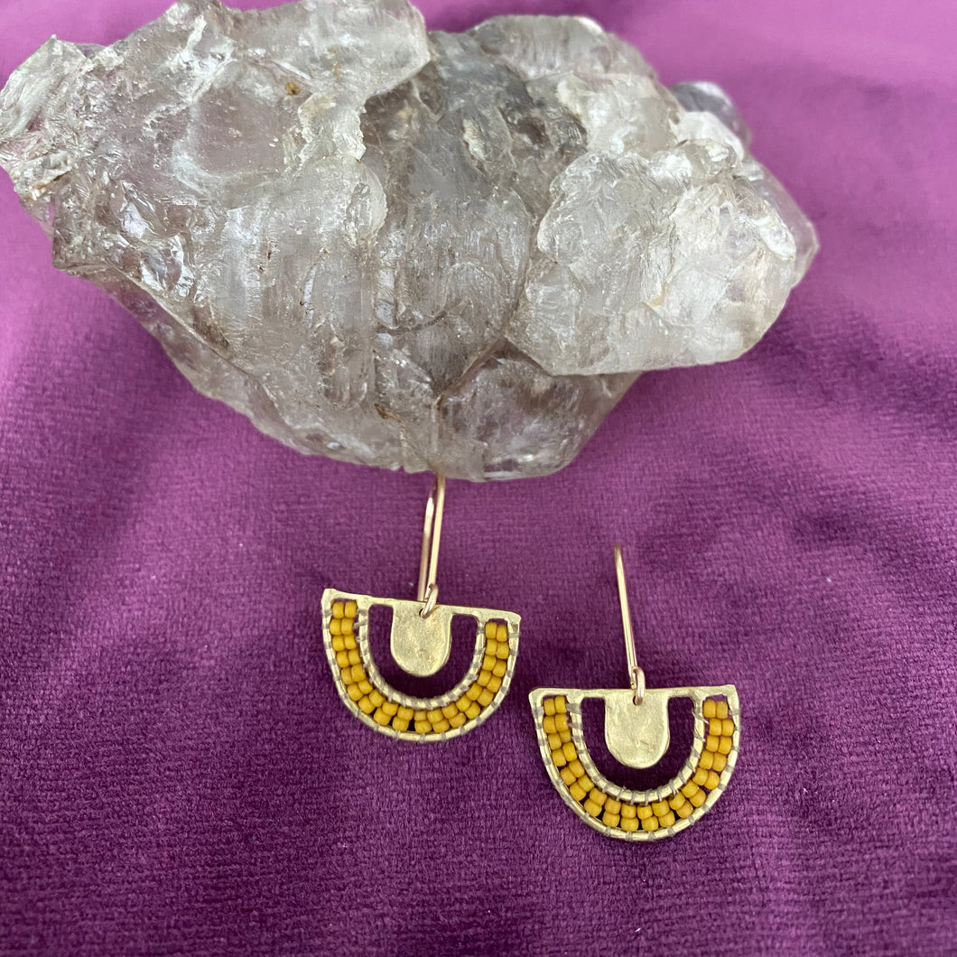 Chalice Earrings -- Ochre