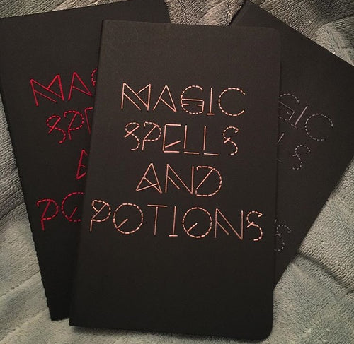 Magic Spells and Potions Embroidered Notebook